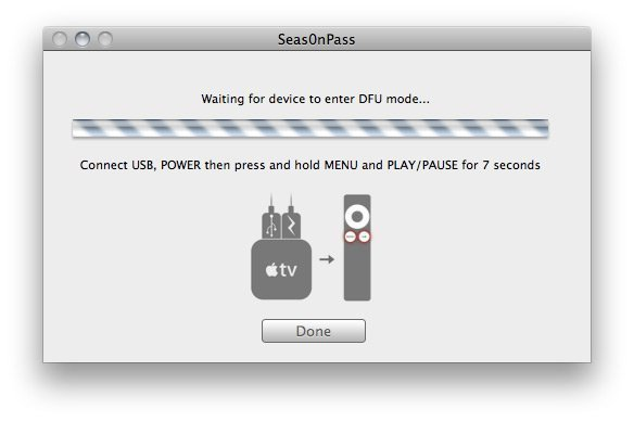 Seas0nPass 07 How to jailbreak Apple TV 2 on iOS 4.2.1 with Seas0nPass