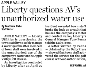 unauthorized water use