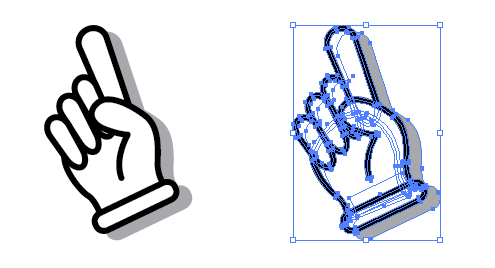 手 指差し アイコン ベクターデータ