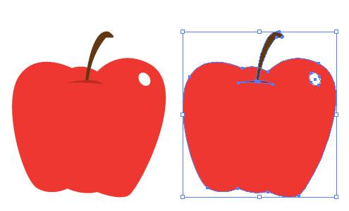 りんご イラレ/ベクトルデータ