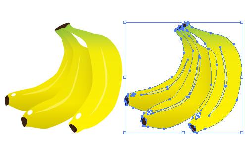 バナナ イラレ/ベクトルデータ