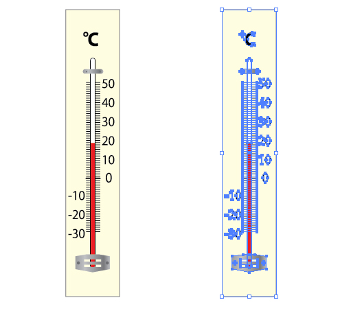 温度計 イラレ/ベクトルデータ