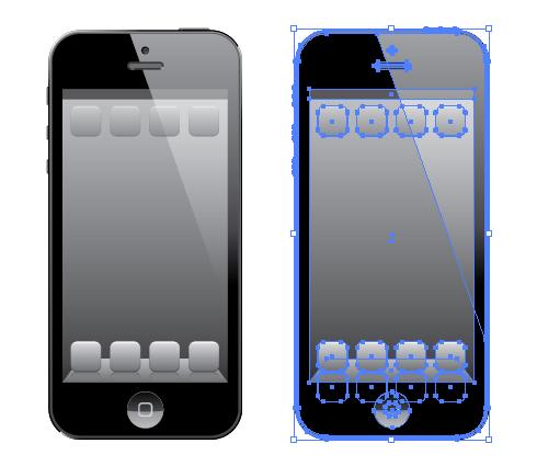iPhone5 ベクトルデータ イラレデータ