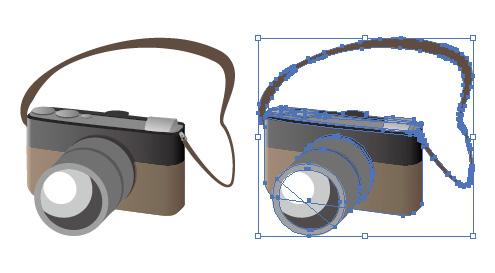 コンパクト一眼レフカメラ  イラレ・ベクトルデータ
