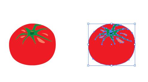 トマト イラレ・ベクトルデータ