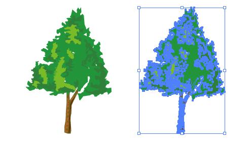 緑、生い茂る木