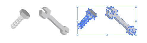 工具 レンチとボルトのイラスト 無料配布イラレイラストレーター
