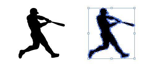 野球 バッター 影絵