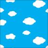 雲と青空のパターン