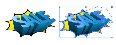 3D立体的SALE告知イラスト
