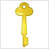 金色に輝くレトロな鍵