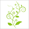 軽やかな植物のイラスト素材