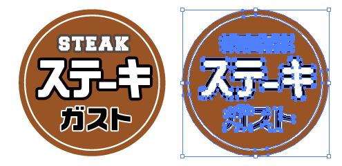 ステーキ専門ファミレス ガストのロゴ