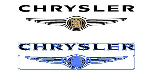 アメリカの自動車メーカークライスラー(CHRYSLER)のepsロゴ