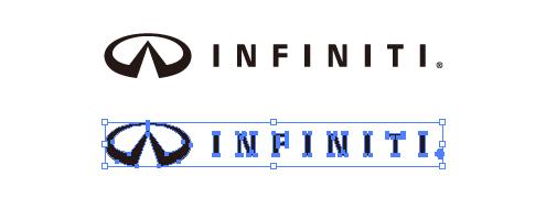 高級車ブランド、インフィニティー (infinity) のepsロゴ