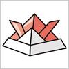 折り紙で作れるカブトのepsイラスト無料素材