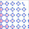 カラーハーフトーンを使用して、ドットで図形を成形