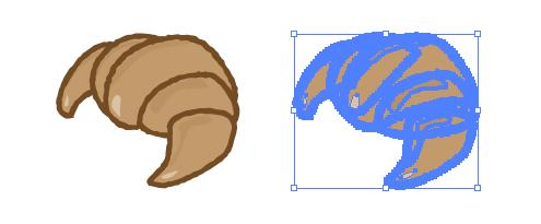 パンの王道、クロワッサンのイラスト、epsパスデータ