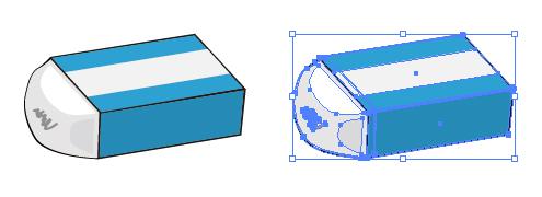 使いかけの消しゴムのイラストepsパスデータ