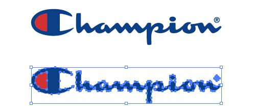 アメリカのスポーツ衣料メーカー、チャンピオン(Champion)のロゴ