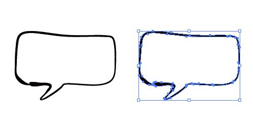 手書き感のある四角い吹き出しイラスト