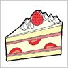 いちごのショートケーキのイラスト eps,ai