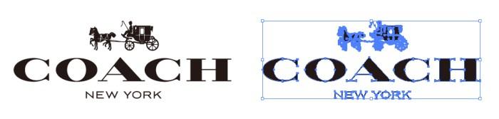 高級皮革製品ブランド、コーチ (COACH)のロゴマーク