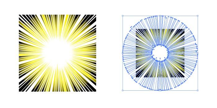 光線のように見える集中線素材