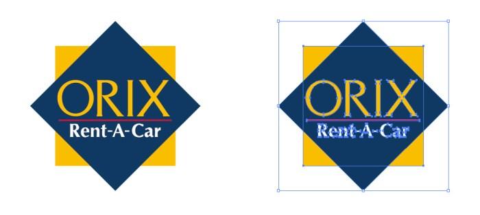 オリックスレンタカーのロゴマーク