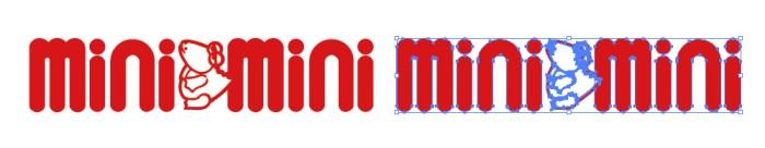 ミニミニ (minimini)のロゴマーク