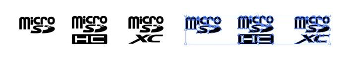 microSD / microSDHC / microSDXCカードの規格を表すロゴマーク