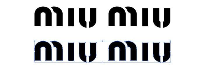 miu miu(ミュウミュウ)のロゴマーク