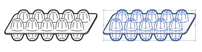 卵パックのプラスチック容器のイラスト 無料配布イラレ
