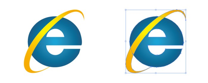 インターネットエクスプローラー(Internet Explorer/ IE)のロゴアイコンマーク