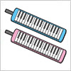 鍵盤ハーモニカ(ピアニカ・メロディオン)のイラスト