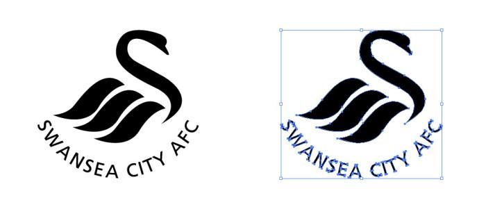スウォンジー・シティAFC(Swansea City A.F.C.)のロゴマーク