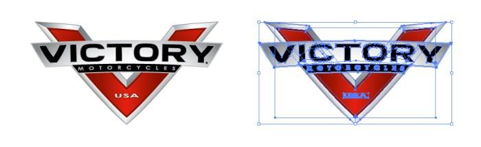 ビクトリーモーターサイクルズ(Victory motorcycles)のロゴマーク