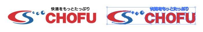 長府製作所(CHOFU)のロゴマーク