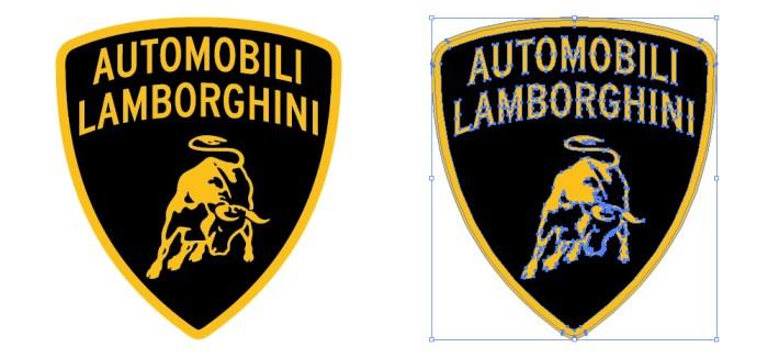 イタリアの自動車メーカー、ランボルギーニ(Lamborghini)のロゴマーク