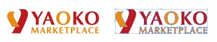 スーパーマーケットチェーン、ヤオコー(yaoko)のロゴマーク