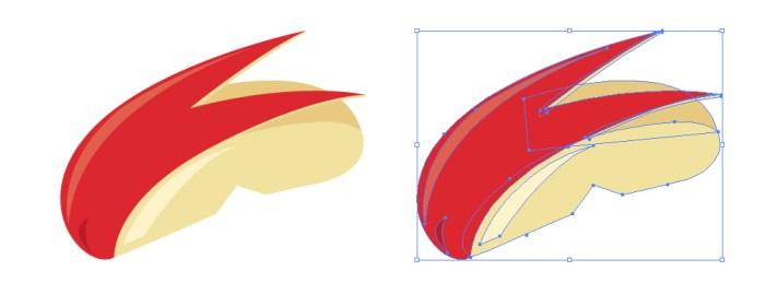 うさぎのようにカットされたりんごのイラスト