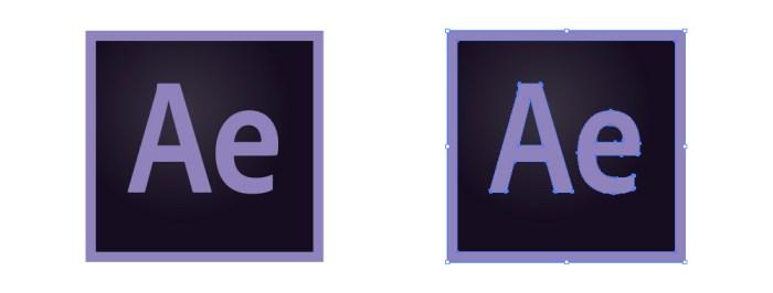アフターエフェクト(After Effects)のアイコンロゴマーク