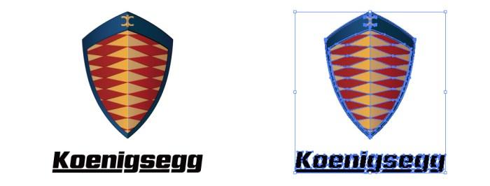 ケーニッグゼグ・オートモーティブ(Koenigsegg)のロゴマーク