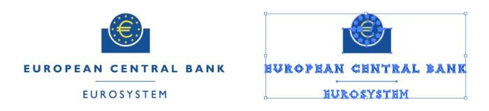 欧州中央銀行、European Central Bankのロゴマーク