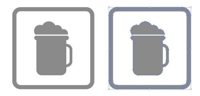 居酒屋の簡易ビールアイコンイラスト