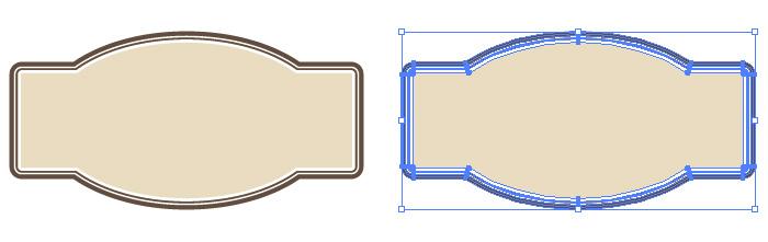 横長のラベル素材