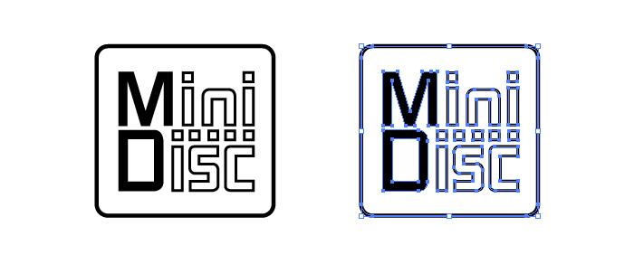 MiniDisc (ミニディスク・MD)のロゴマーク