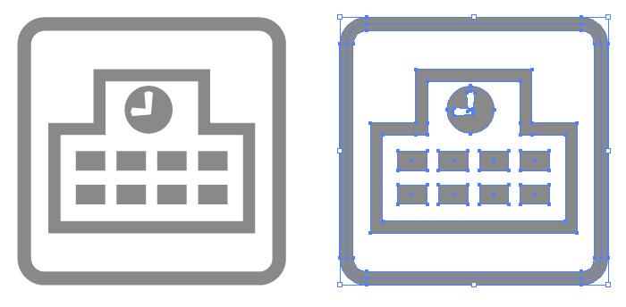 マップ作成等に使える学校の簡易アイコンイラスト