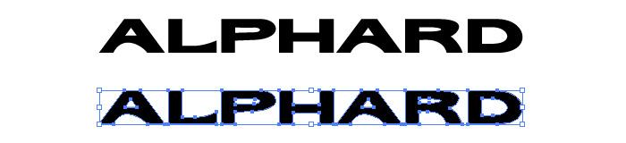 アルファード(ALPHARD)のロゴマーク