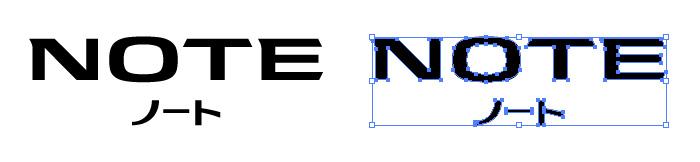 ノート(NOTE)のロゴマーク